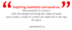 Inspiring Moments: Dare yourself to connect