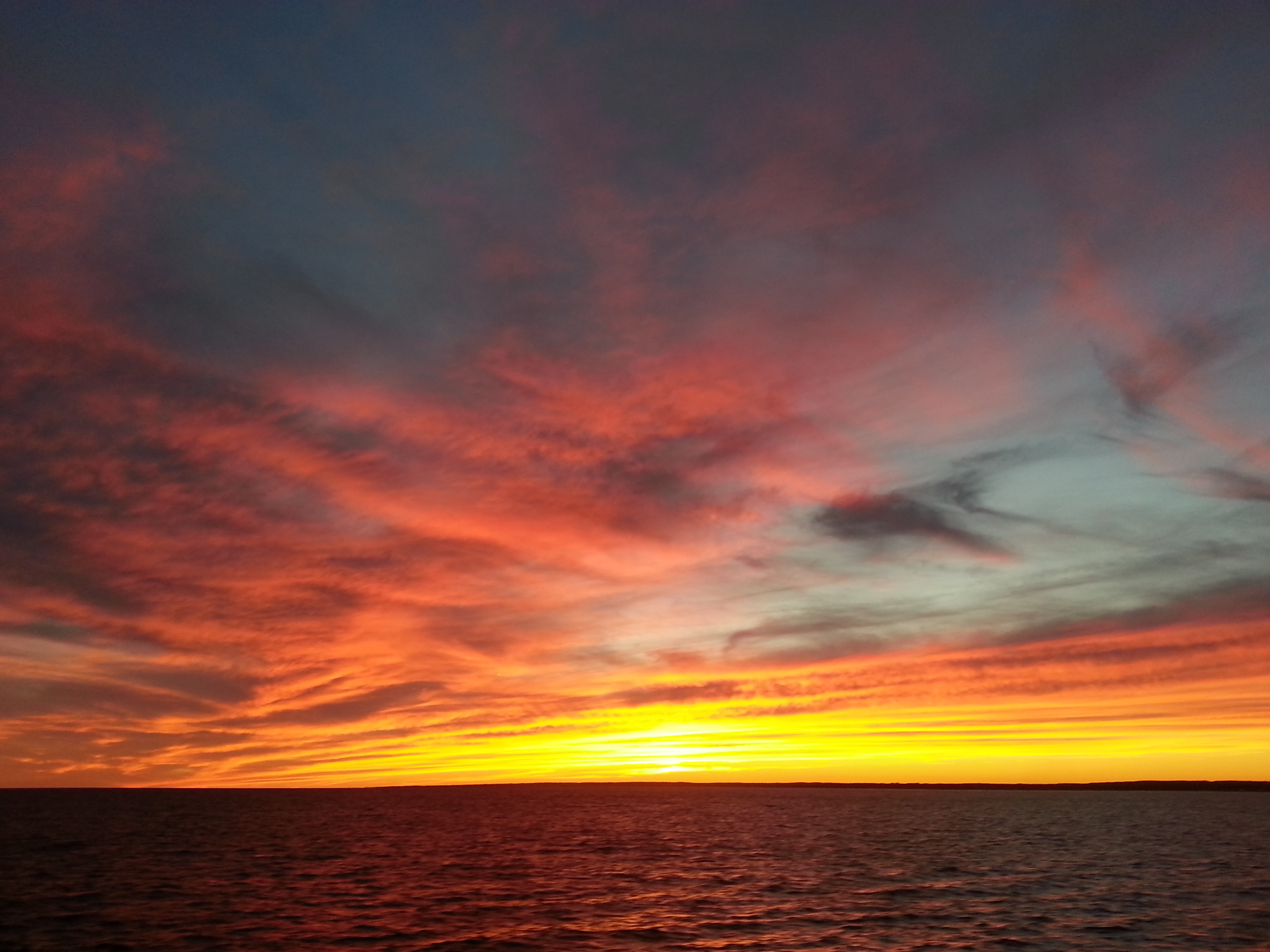 The view from a September evening ferry ride from Pt. Judith, R.I., to Block Island.