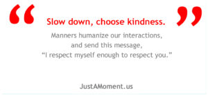 Kindness on JustAMoment.us
